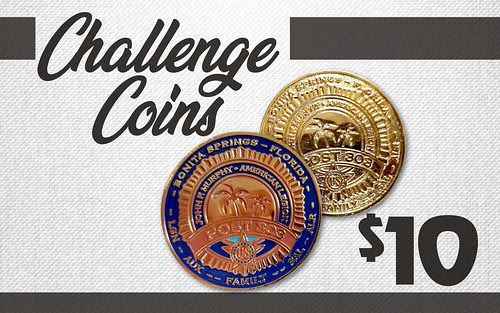 Post 303 Challenge Coin