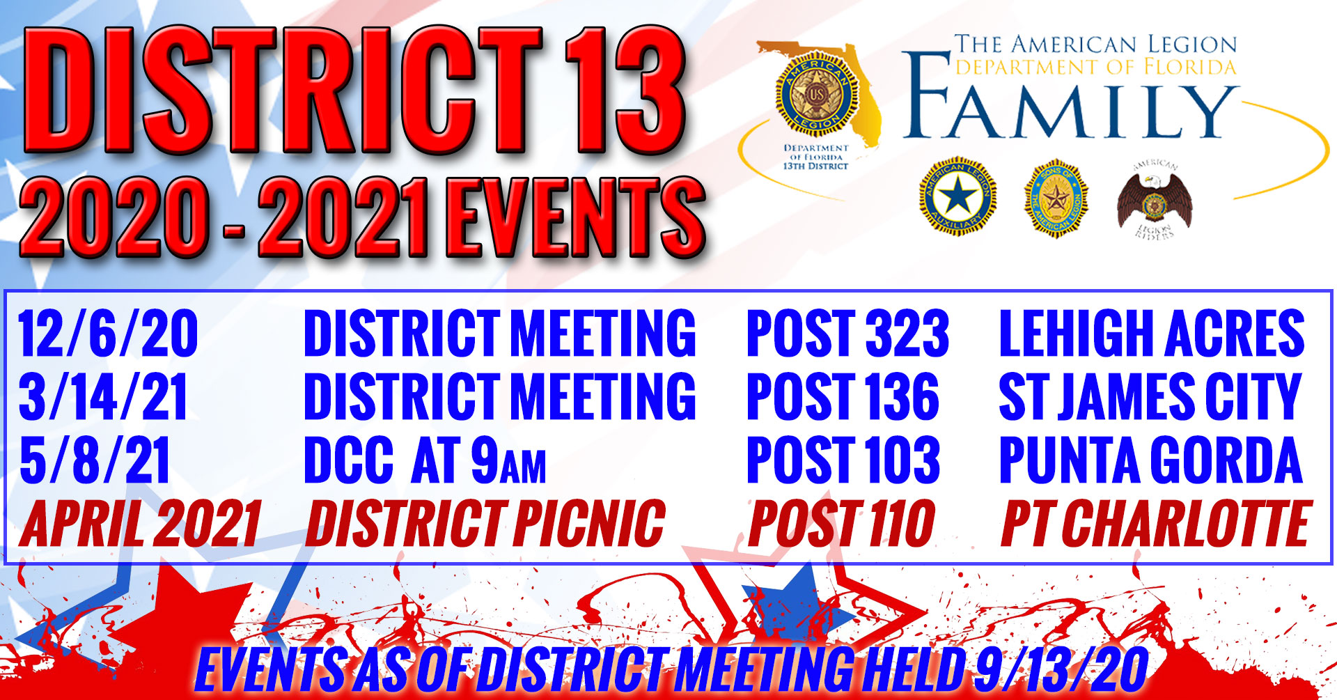 2020-2021 District 13 Events
