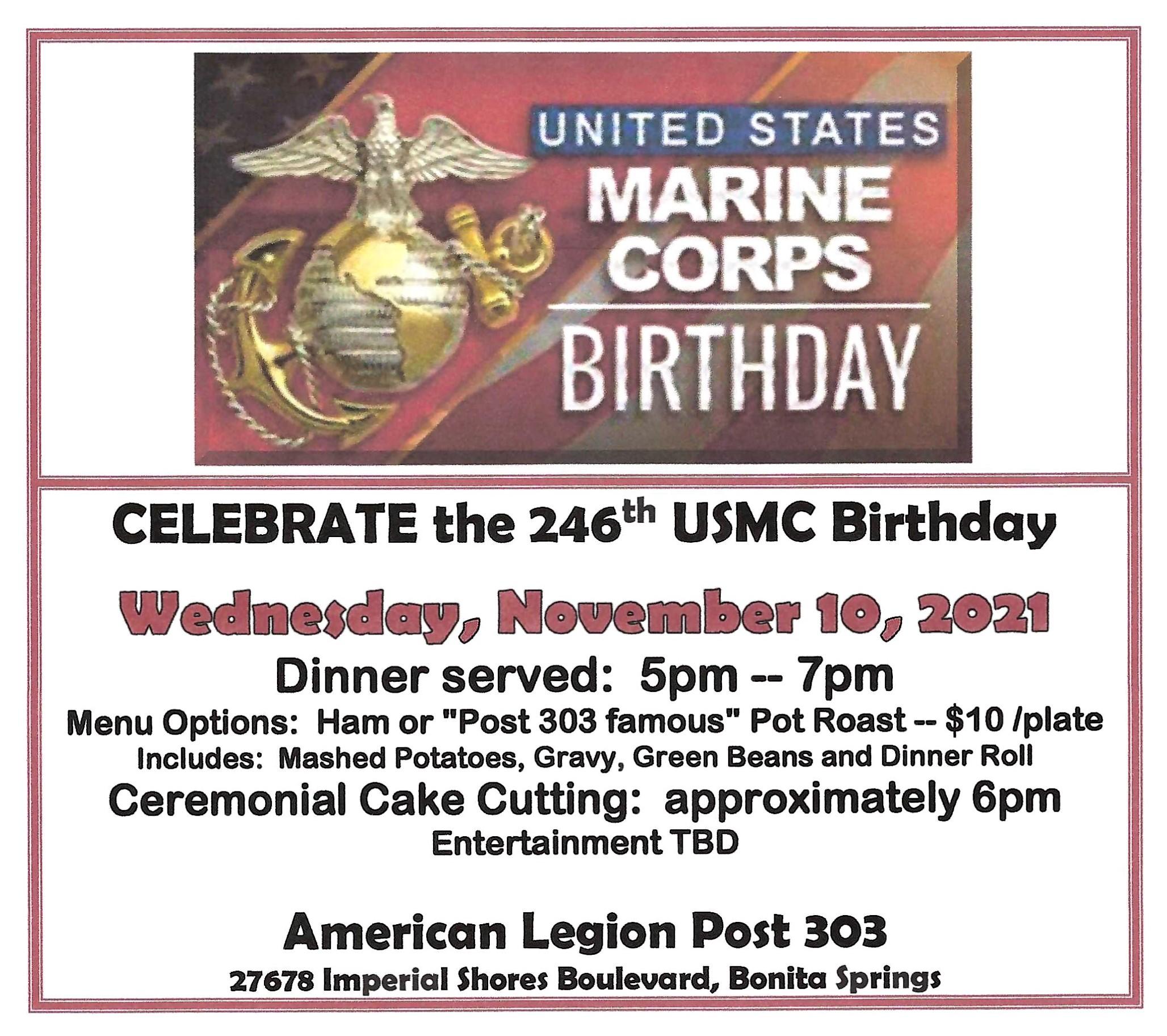 USMC Birthday Ad